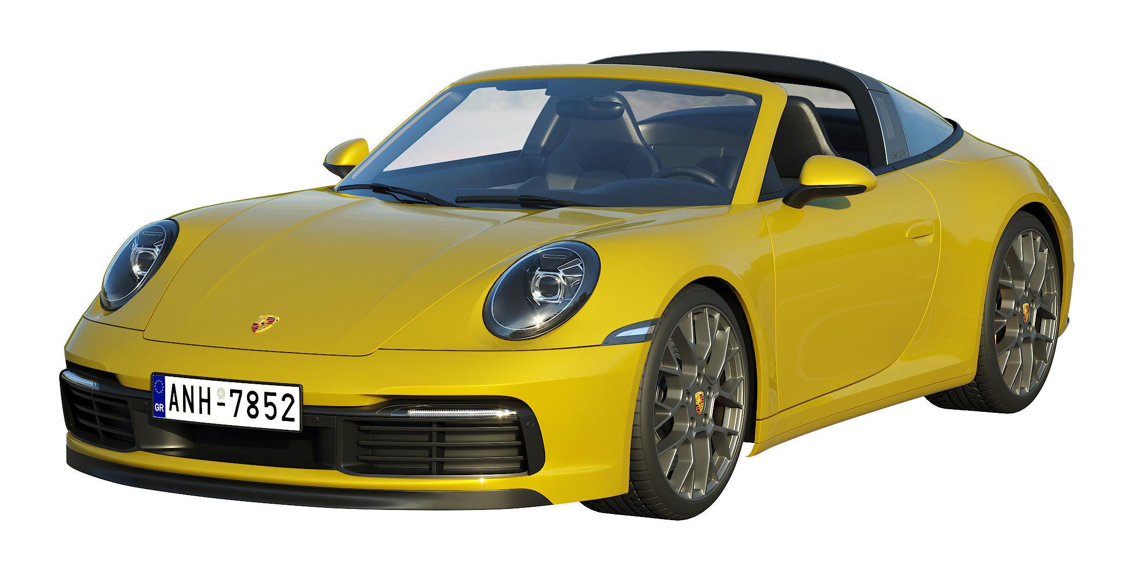 Porsche 911 Targa 2019 3d Model Cgtrader