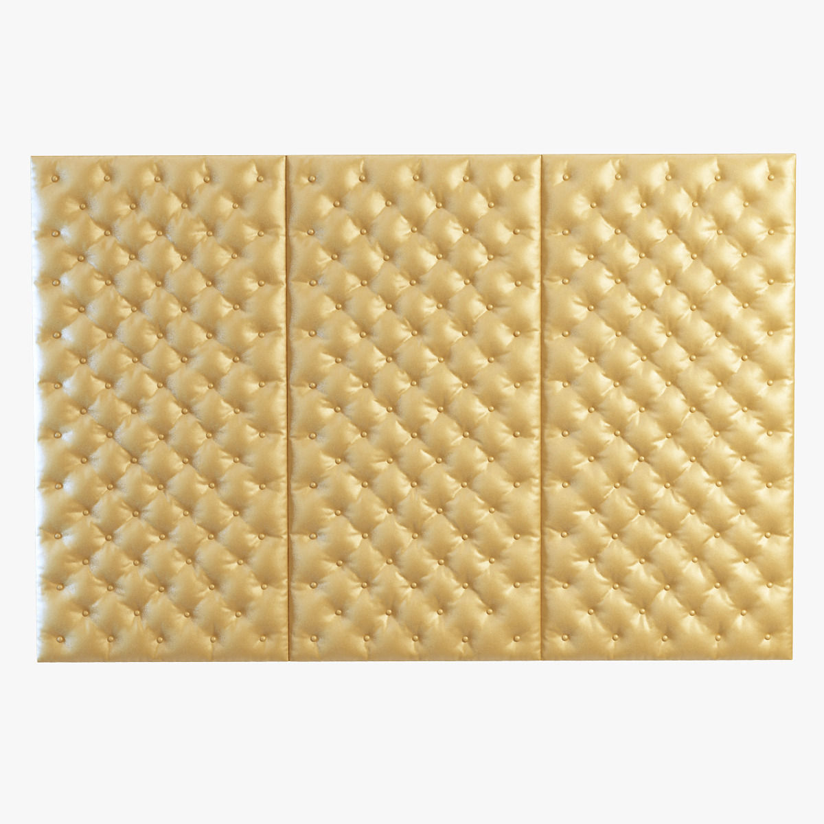 Decorative wall yellow panel 3D | CGTrader