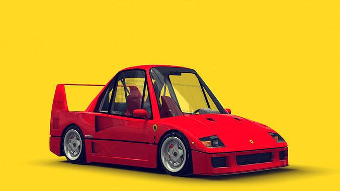 Cartoon Car , Ferrari F40