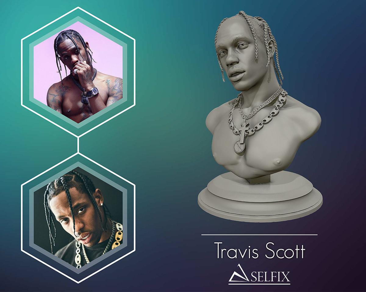 Travis Scott 3D sculpture ready to 3D print