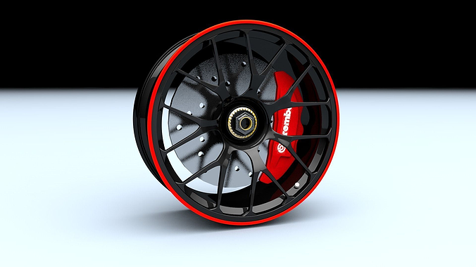 sport racing rim 3d model obj mtl 3ds fbx c4d 1