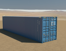 40ft container rigged 3d