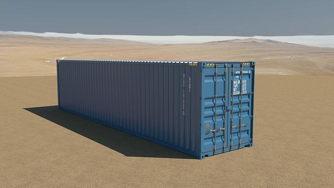 40ft container 3d model obj 3ds fbx c4d tga 1