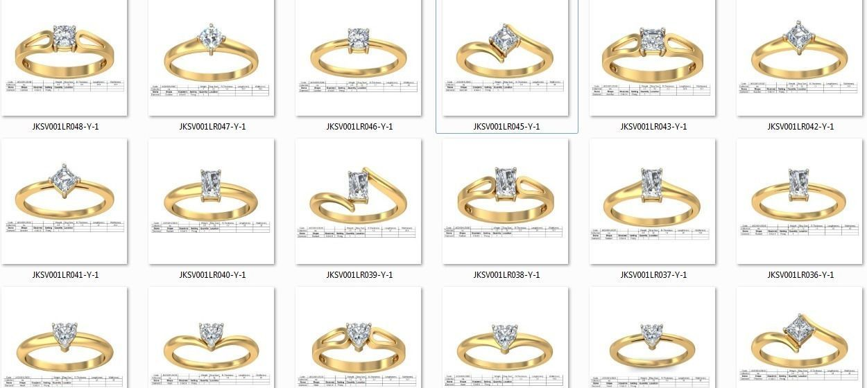 150 Women Ring 3dm render details bulk collections