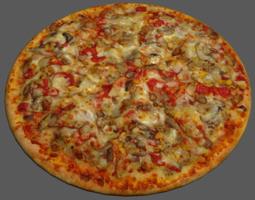pizza vegetable 3d model