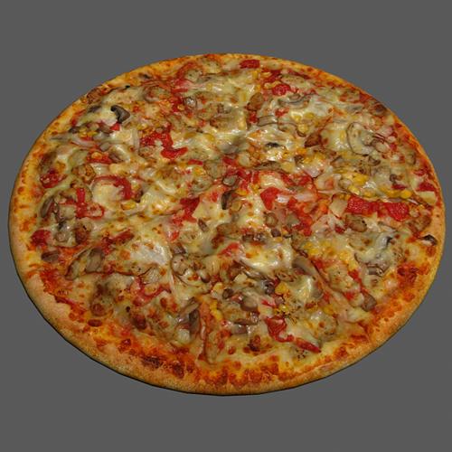 pizza vegetable 3d model max obj mtl 1