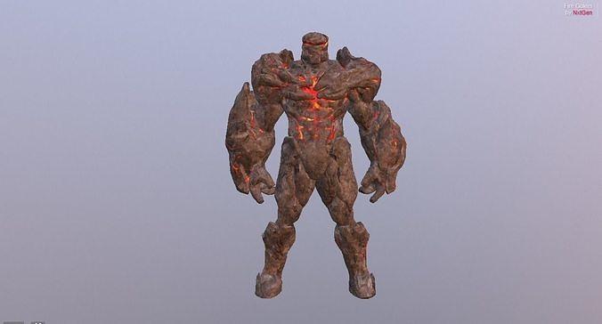 Fire Golem Elemental