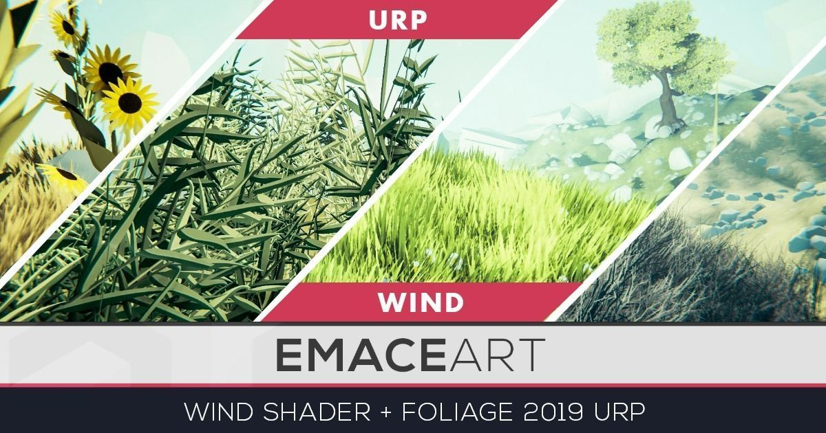 Stylized Vegetation Grass and Flower Pack URP wind shader