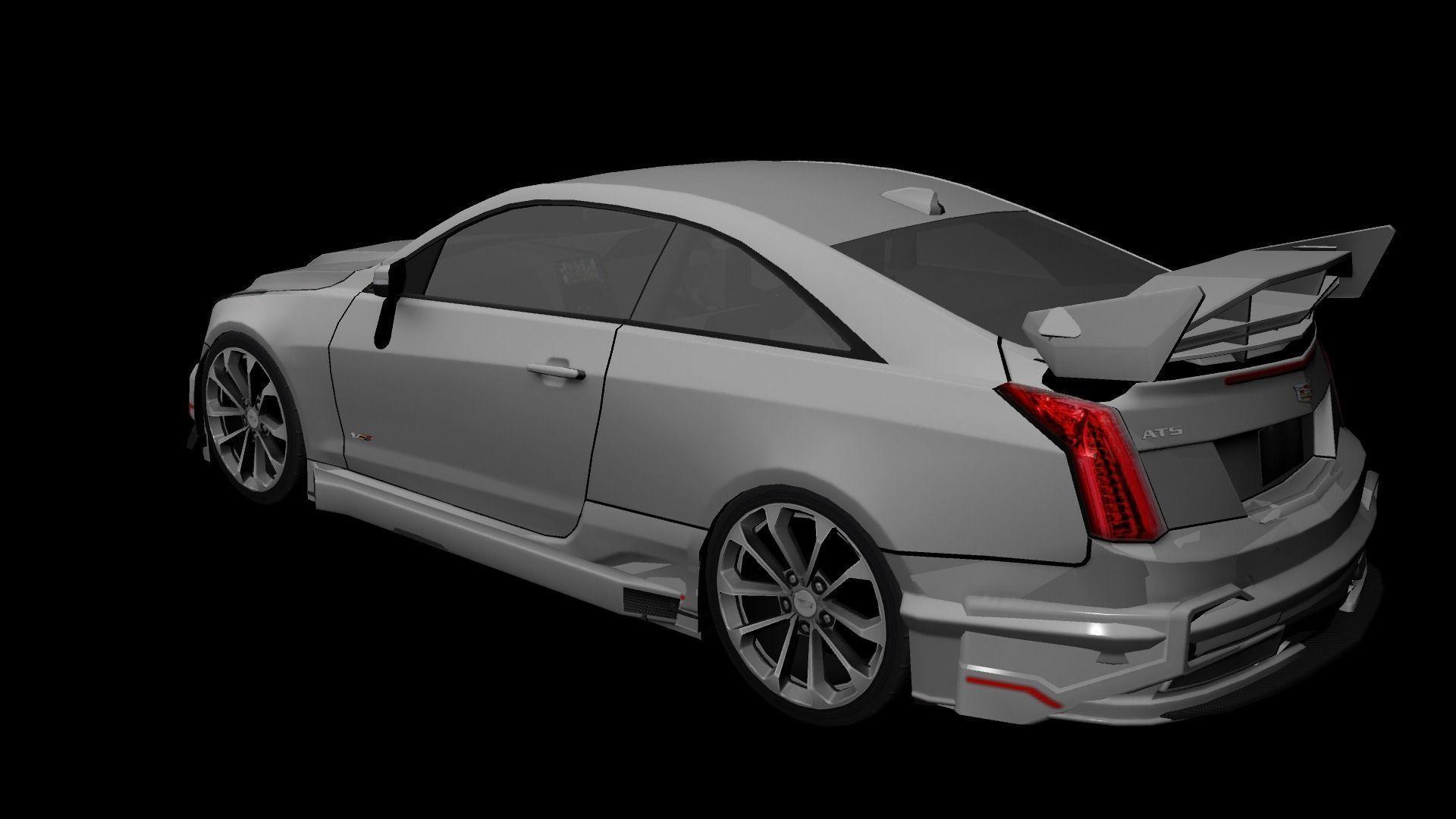 Cadillac Ats V Coupe 2016 Custom 3d Model Cgtrader
