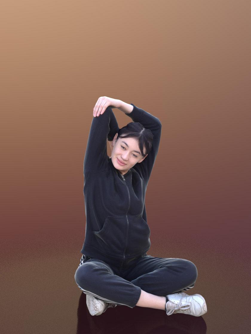 Francine 10335 - Stretching Sport Girl | 3D model