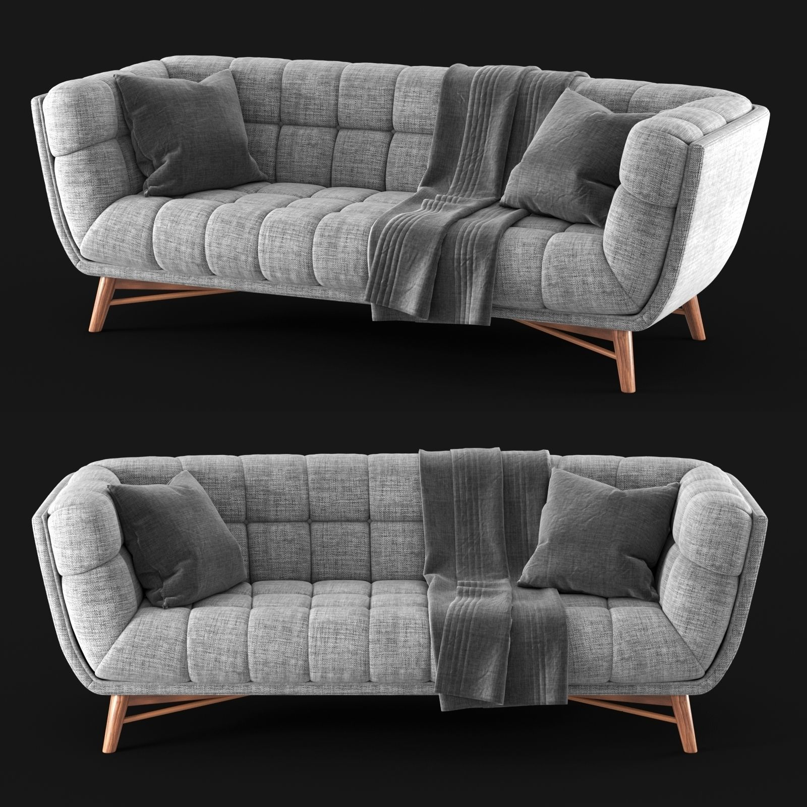 Lofton Midcentury Modern Sofa 3d Model