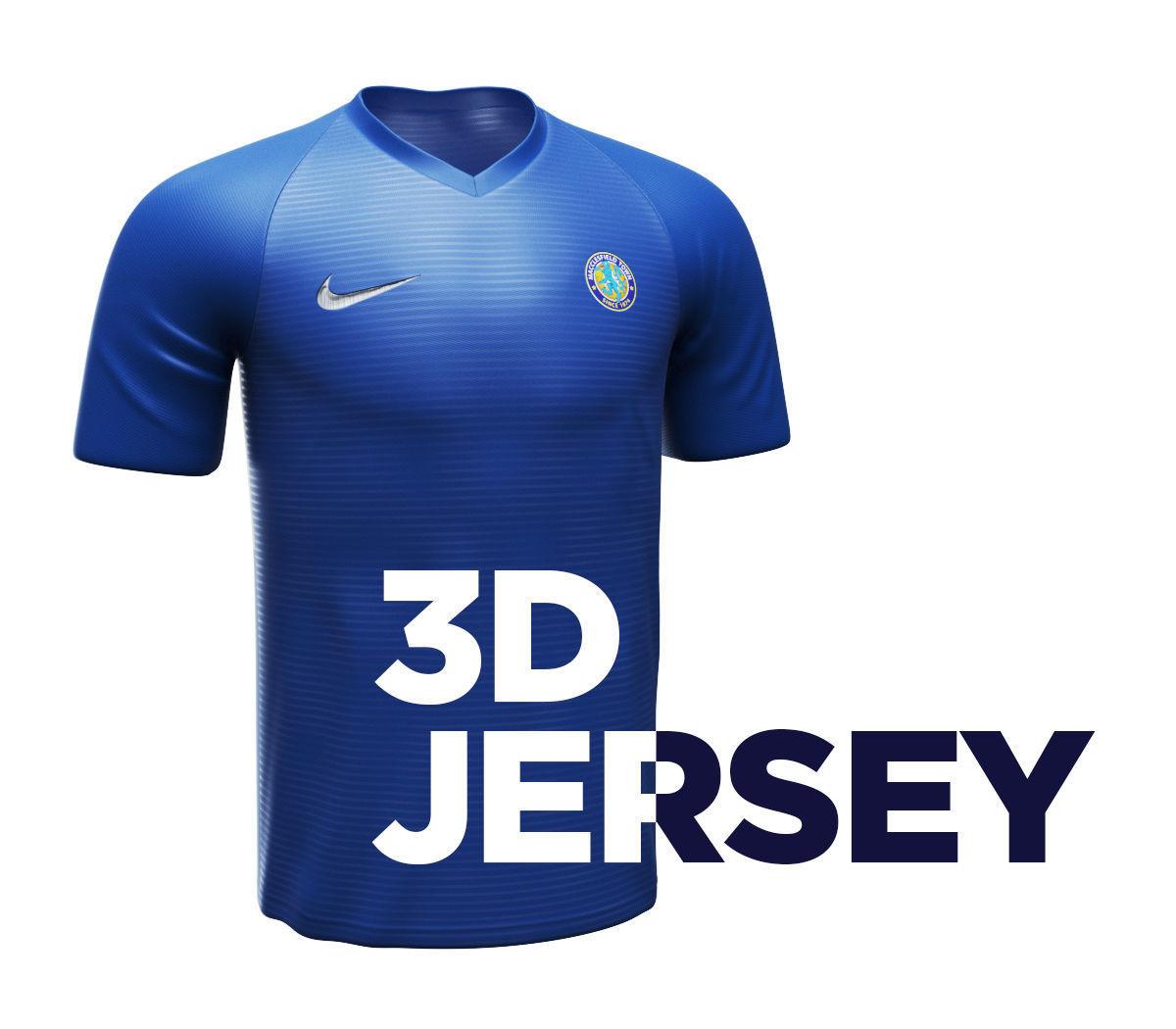 quality design a2a5a 978ea Jersey Shirt 3D model with 4K textures | 3D model