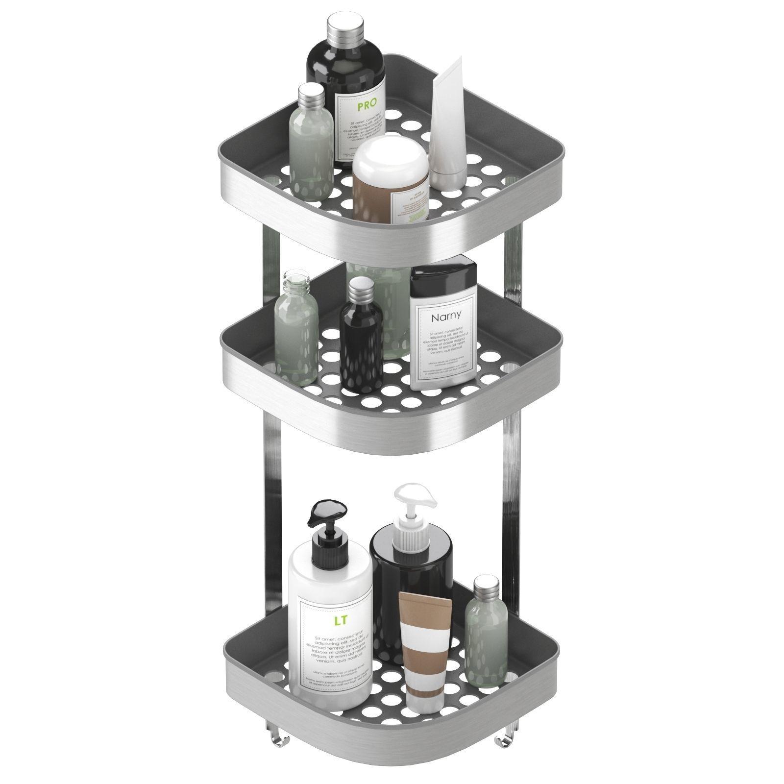 Brogrund Corner Wall Shelf Unit Stainless Steel By Ikea 3d Model