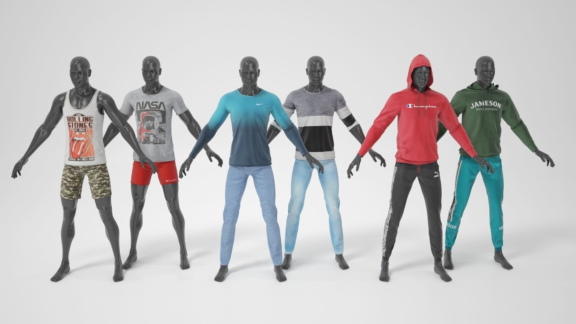 Man mannequin with clothes  A-pose