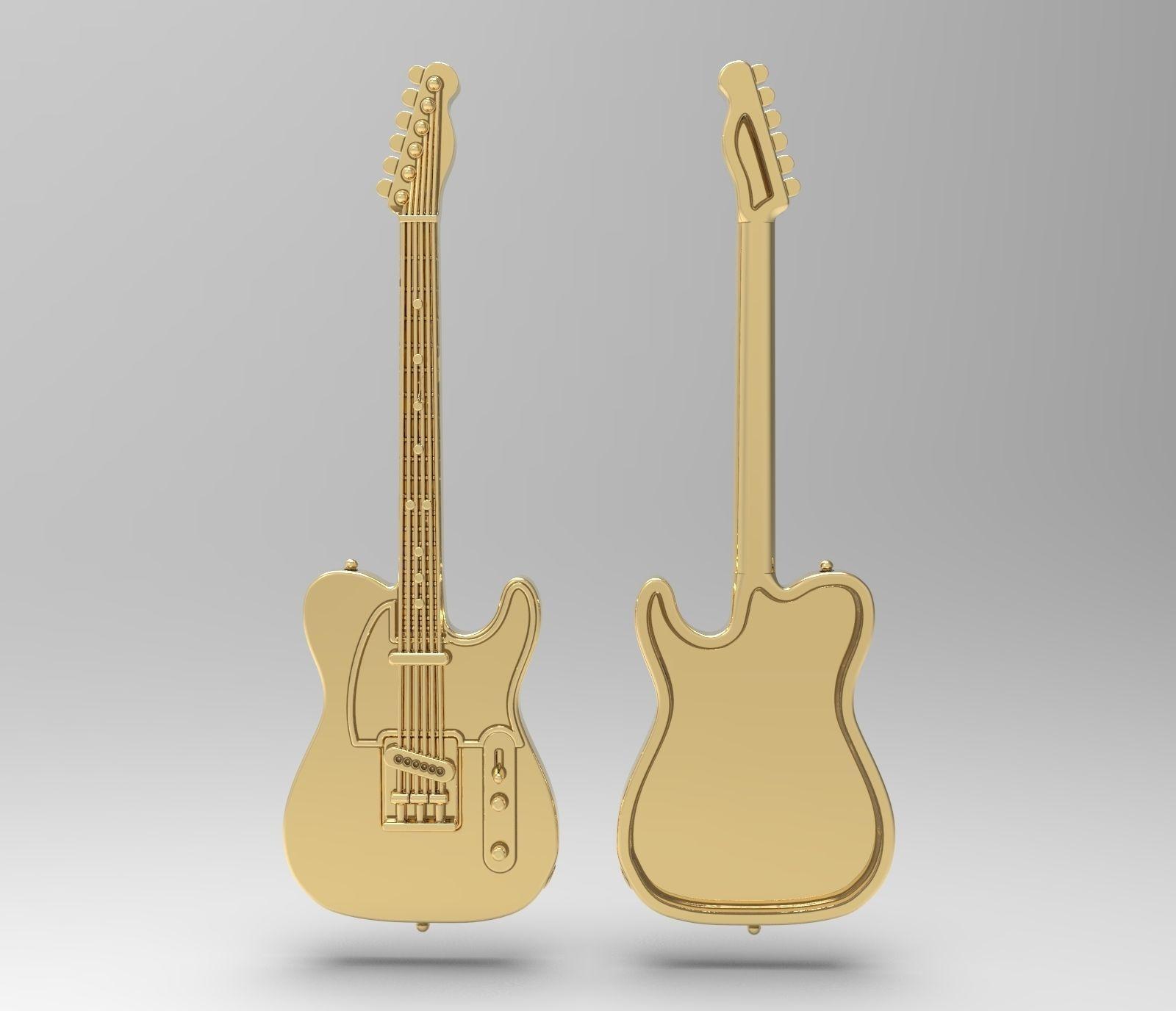 Fender Telecaster badge pendant pin broche