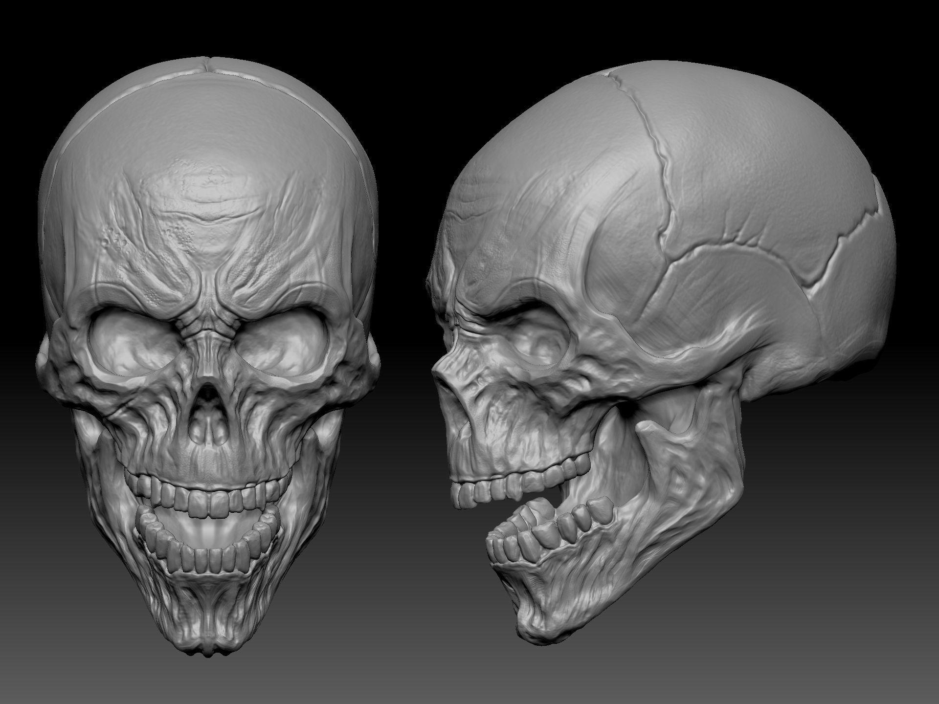 SKULL  for 3D printing