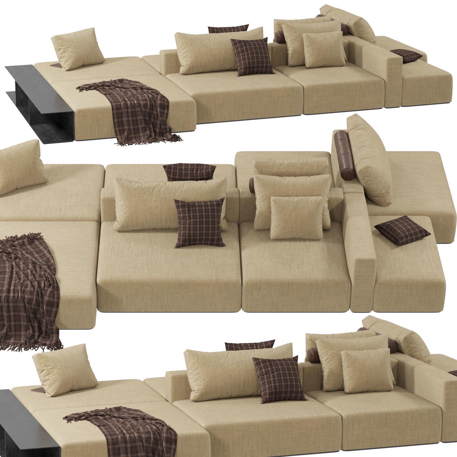 Divani Poliform.Poliform Westside Divano Sofa 3d Model
