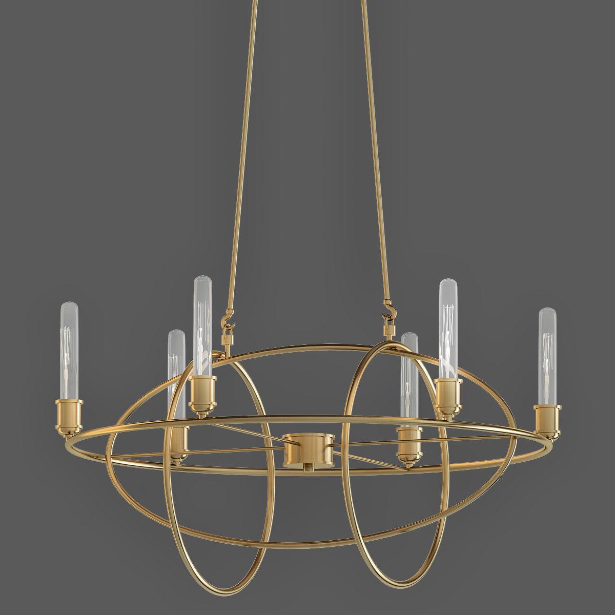 Satin Gold Bel Air Lighting Chandeliers