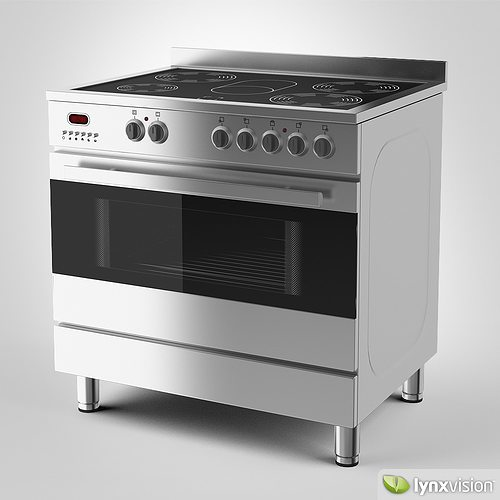Electric Kitchen Stoves With Grills ~ D model euromaid electric stove and grill cgtrader