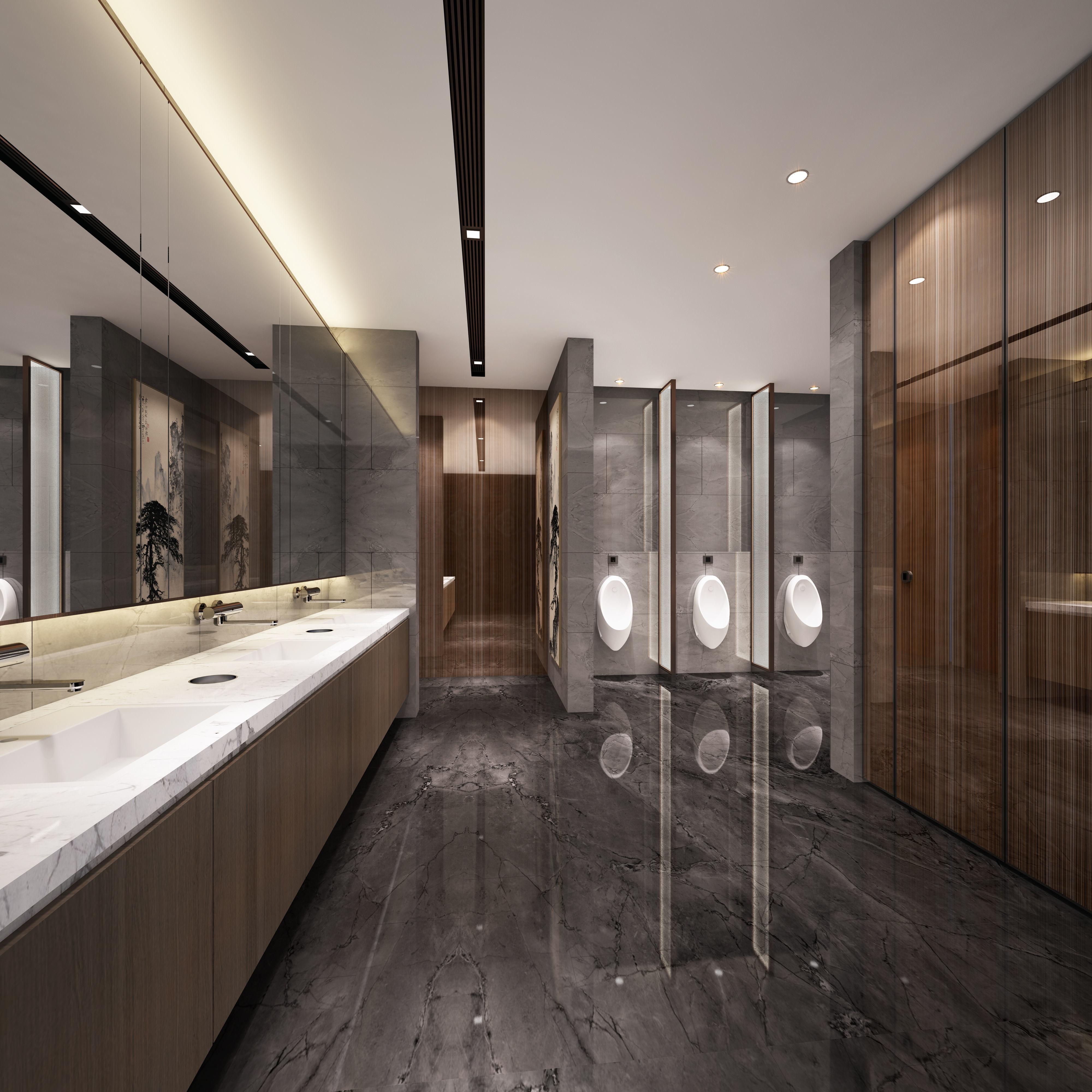 Modern office washroom
