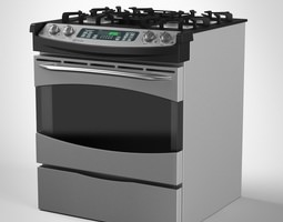 general electric gas range cooker 3d model