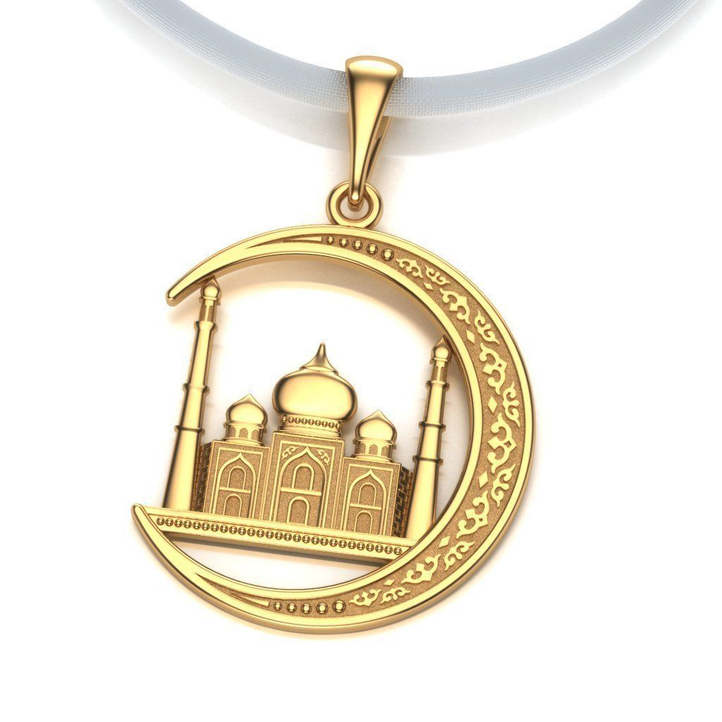 Pendant Mosque and Crescent 2