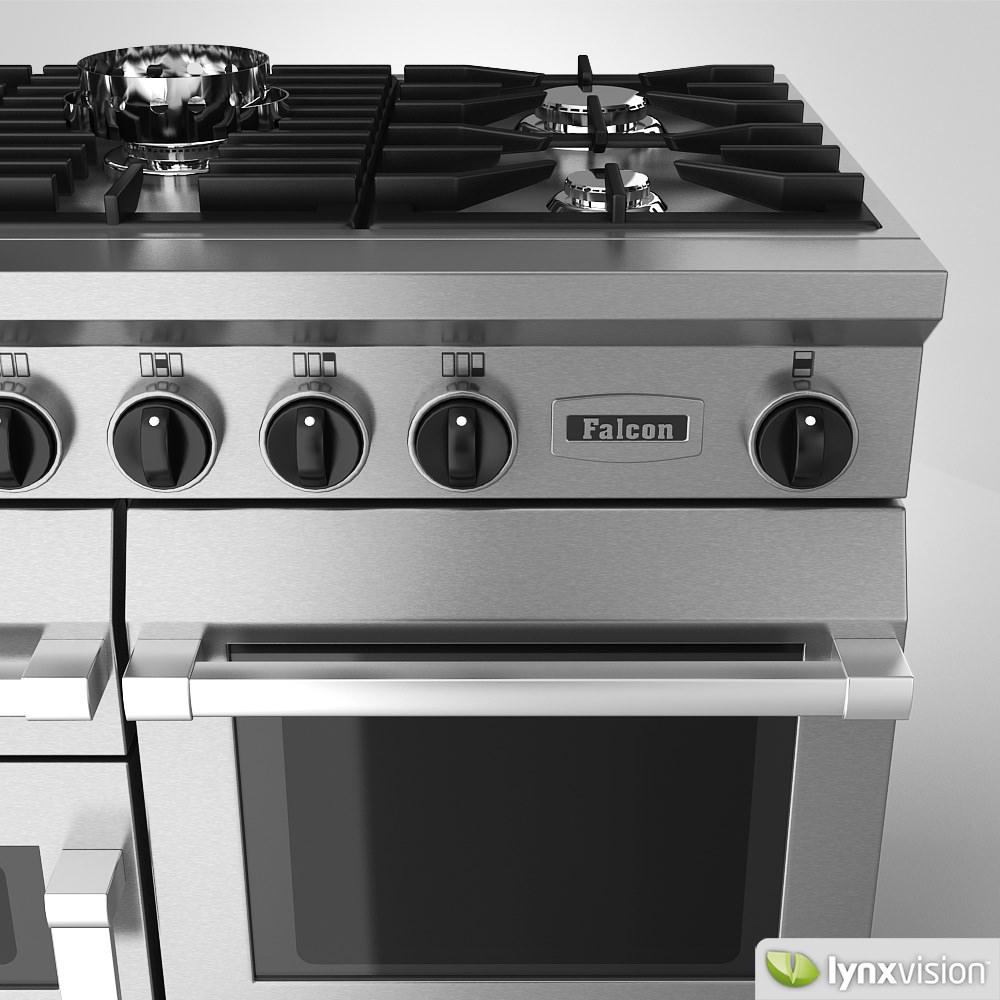 Range Cooker falcon freestanding gas range cooker 3d cgtrader