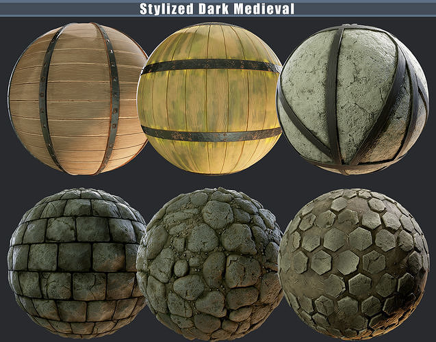 Stylized Dark Medieval Pack Texture