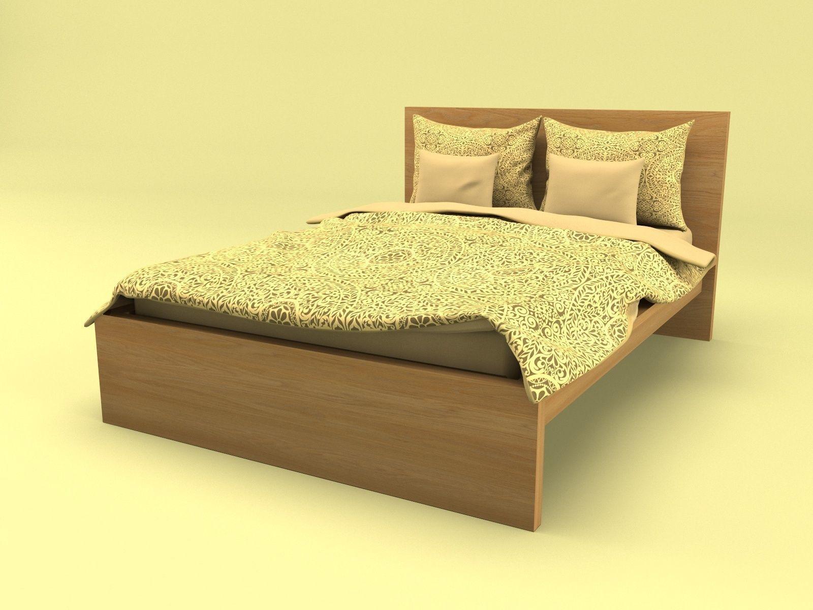 Ikea Malm Bed 3d Model 3d Model