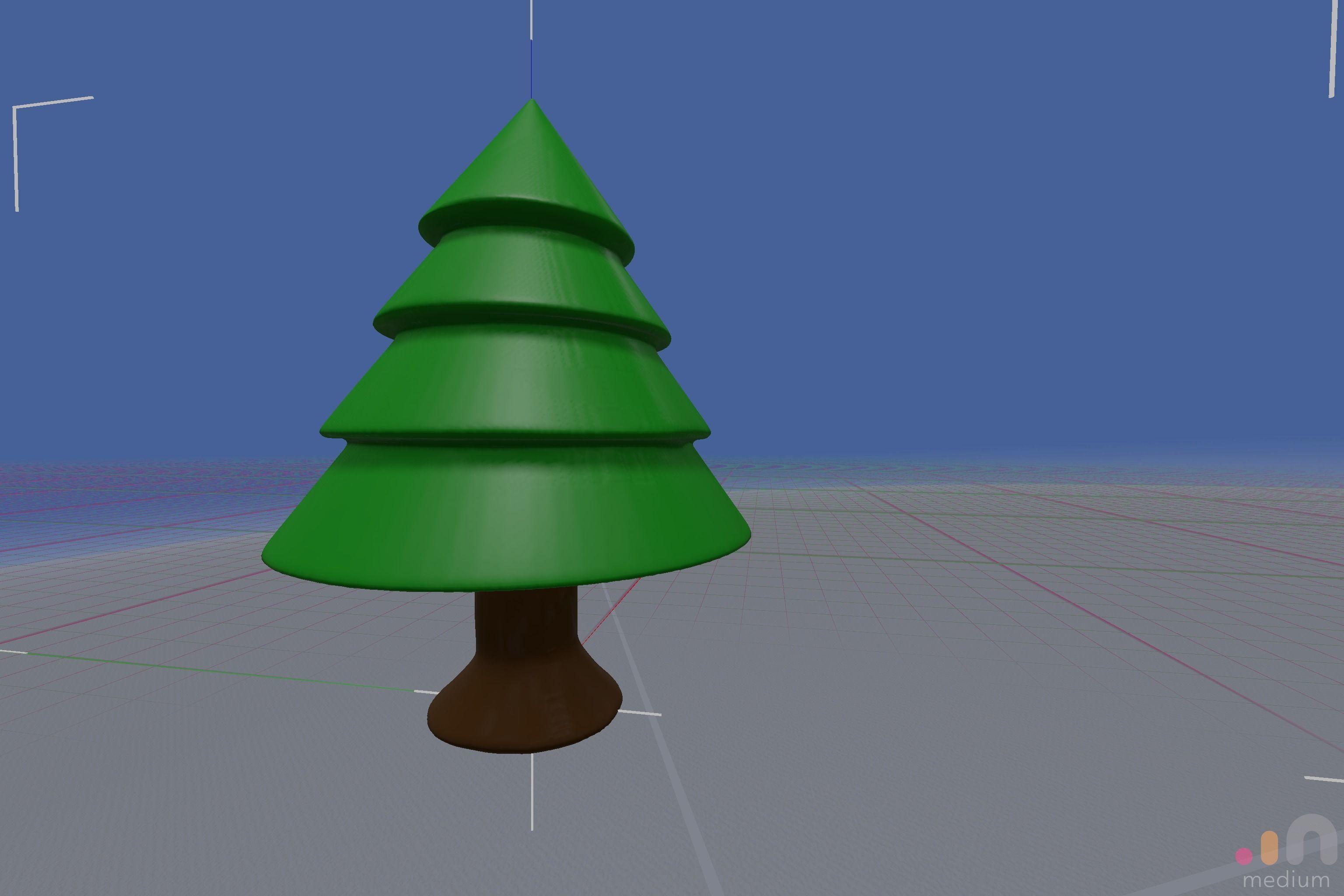 Printable Christmas Tree.Simple Printable Christmas Tree Cgtrader