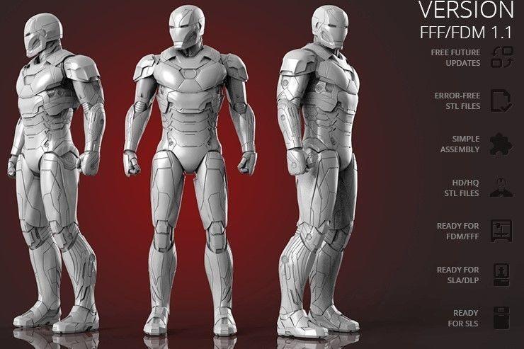 Iron Man Mark 46 3D Printing Figurine | 3D Print Model