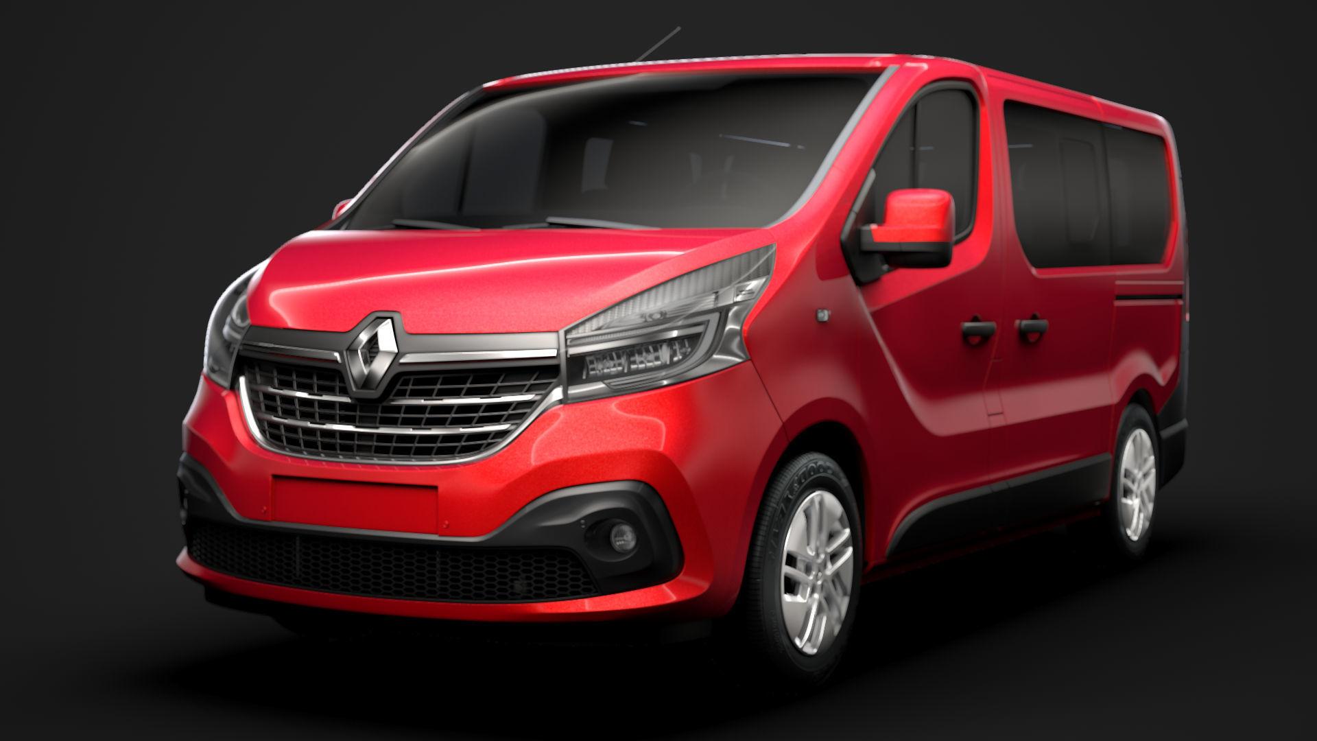 Renault Trafic Minibus 2020 3D | CGTrader