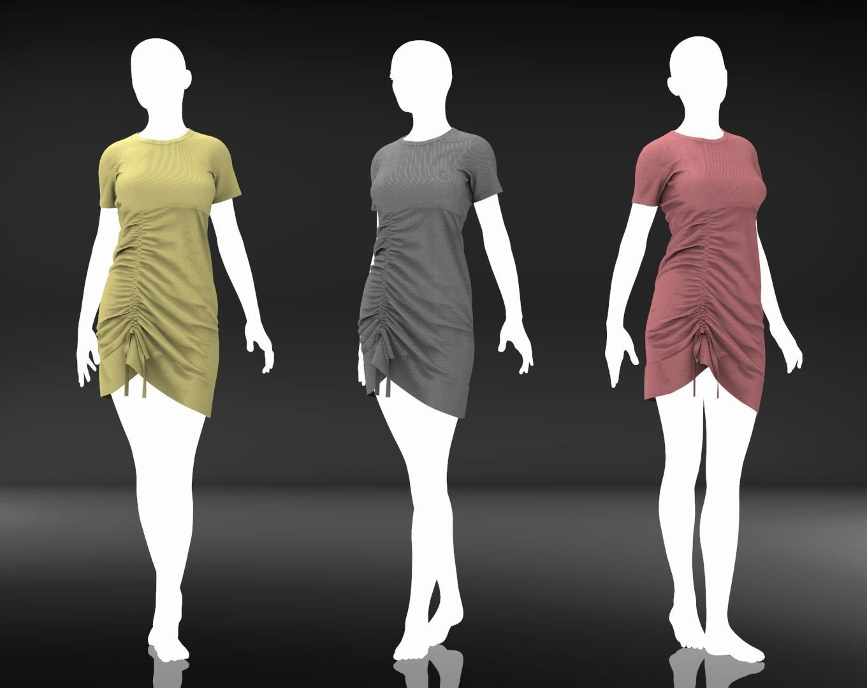 Female Cloth - 16 Marvelous Designer Simple Dress