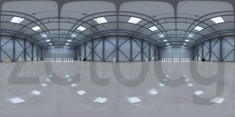 HDRI - Airplane Hangar Interior 3