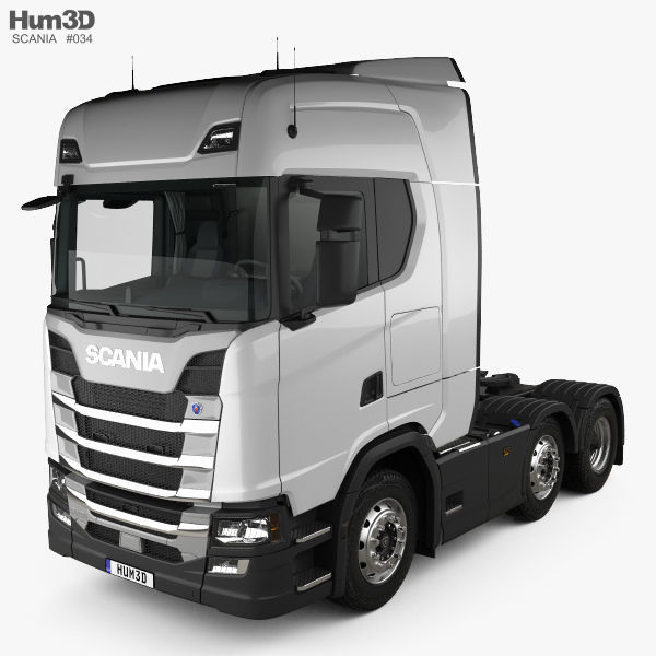 Scania R Highline Tractor Truck 3-axle with HQ interior 2017