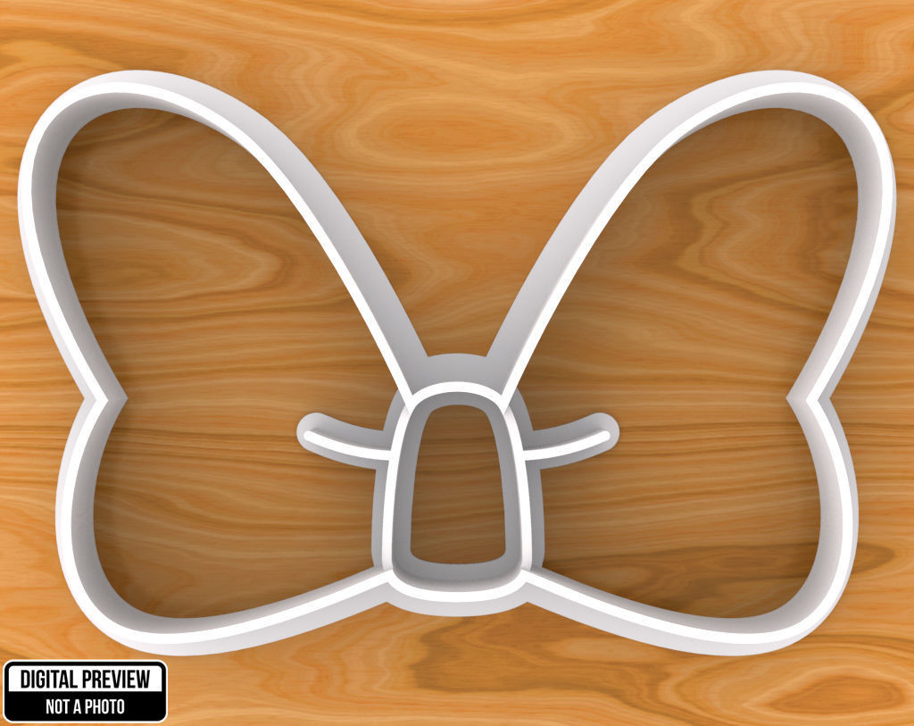 Minnie Mouse Bow Cookie Cutter