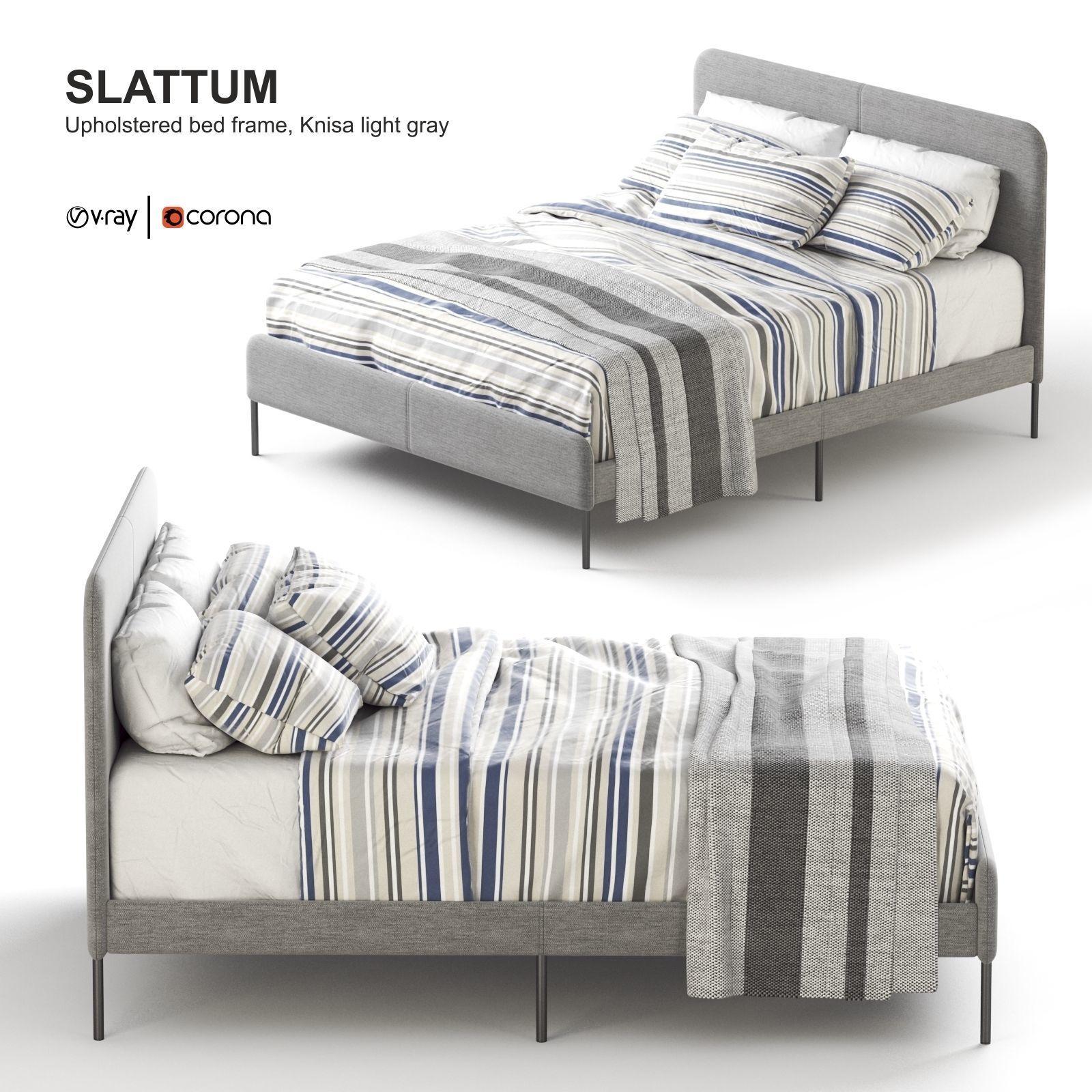 Ikea Slattum Upholstered Bed Model