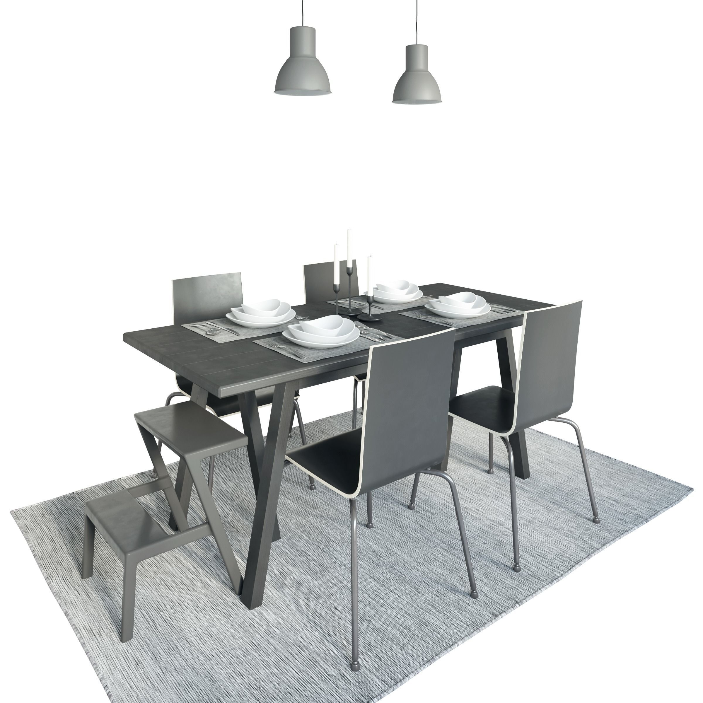 Table Riggestad and chair Martin by