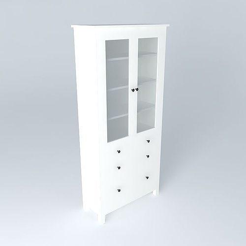 Hemnes Cabinet 3d Model Max Obj Mtl 3ds Fbx Stl Skp ...