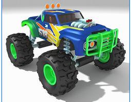monster truck 518 3d model max obj fbx