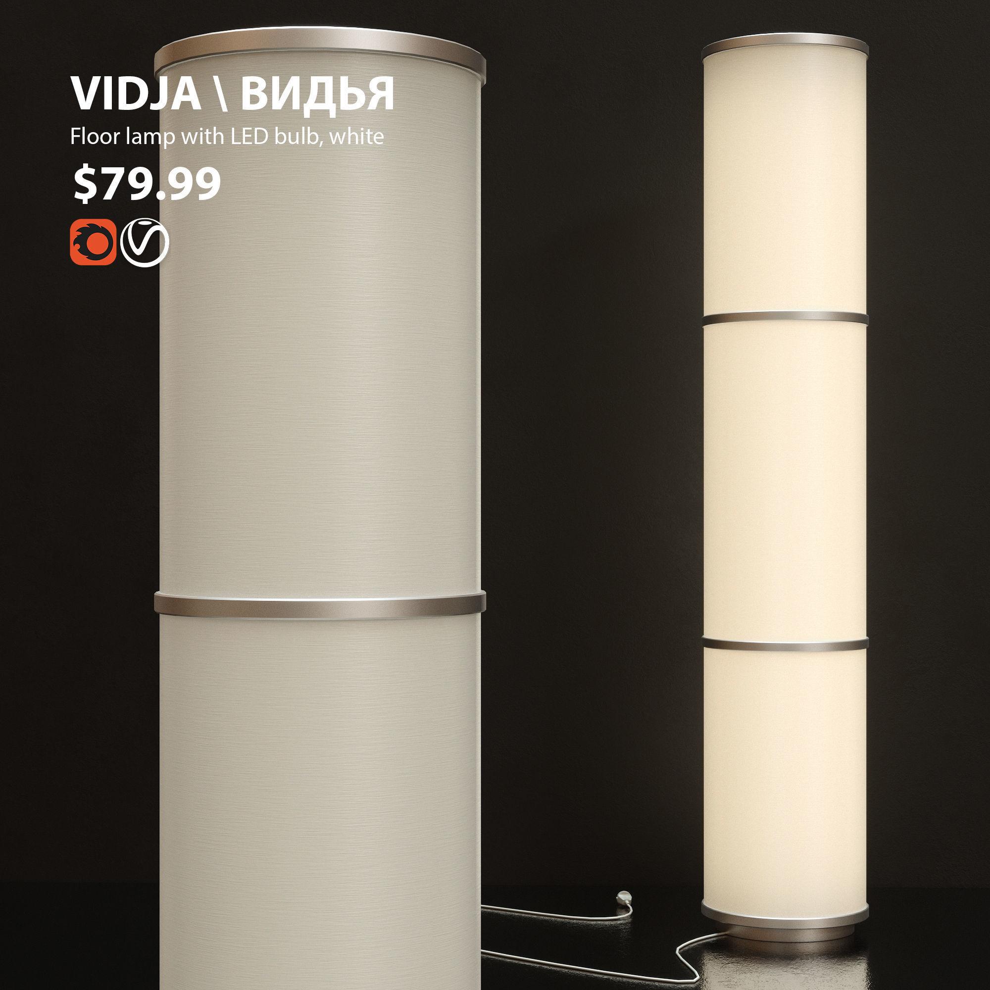 Floor Lamp Ikea Vidja 3d Model