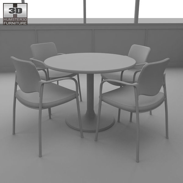 Restaurant Kitchen 3d Model 3d model dining room 04 set a fast food restaurant furniture vr