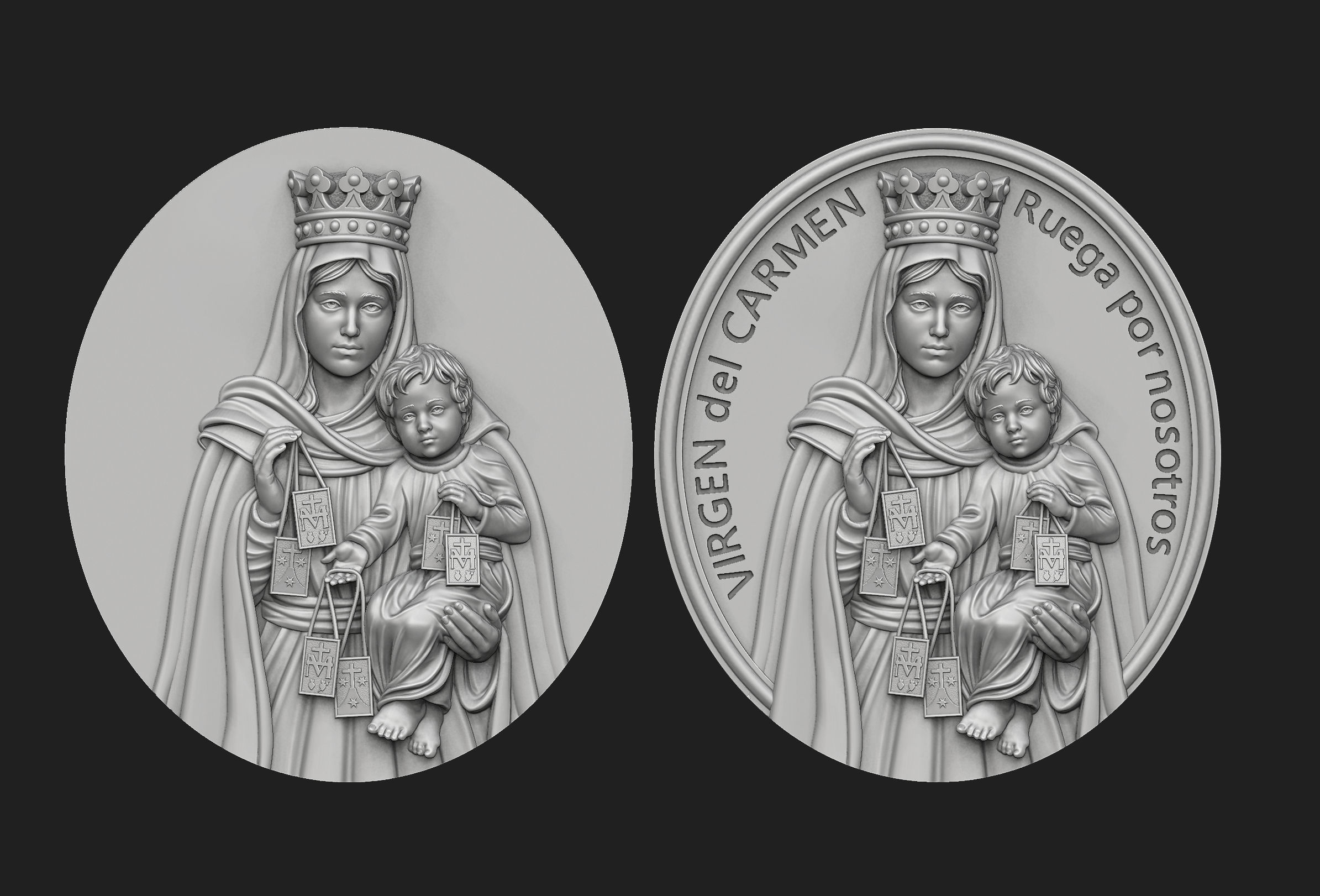 Virgen del Carmen Medallion Set