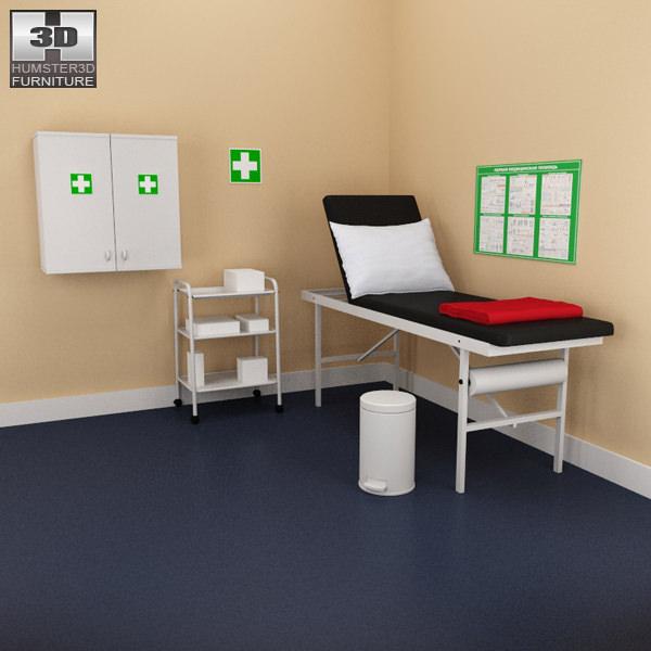Hospital 02 Set Medical Furniture Model Low Poly Max Obj S Fbx C4d Lwo
