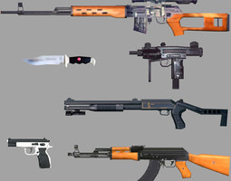 Weapons Pack 3D asset