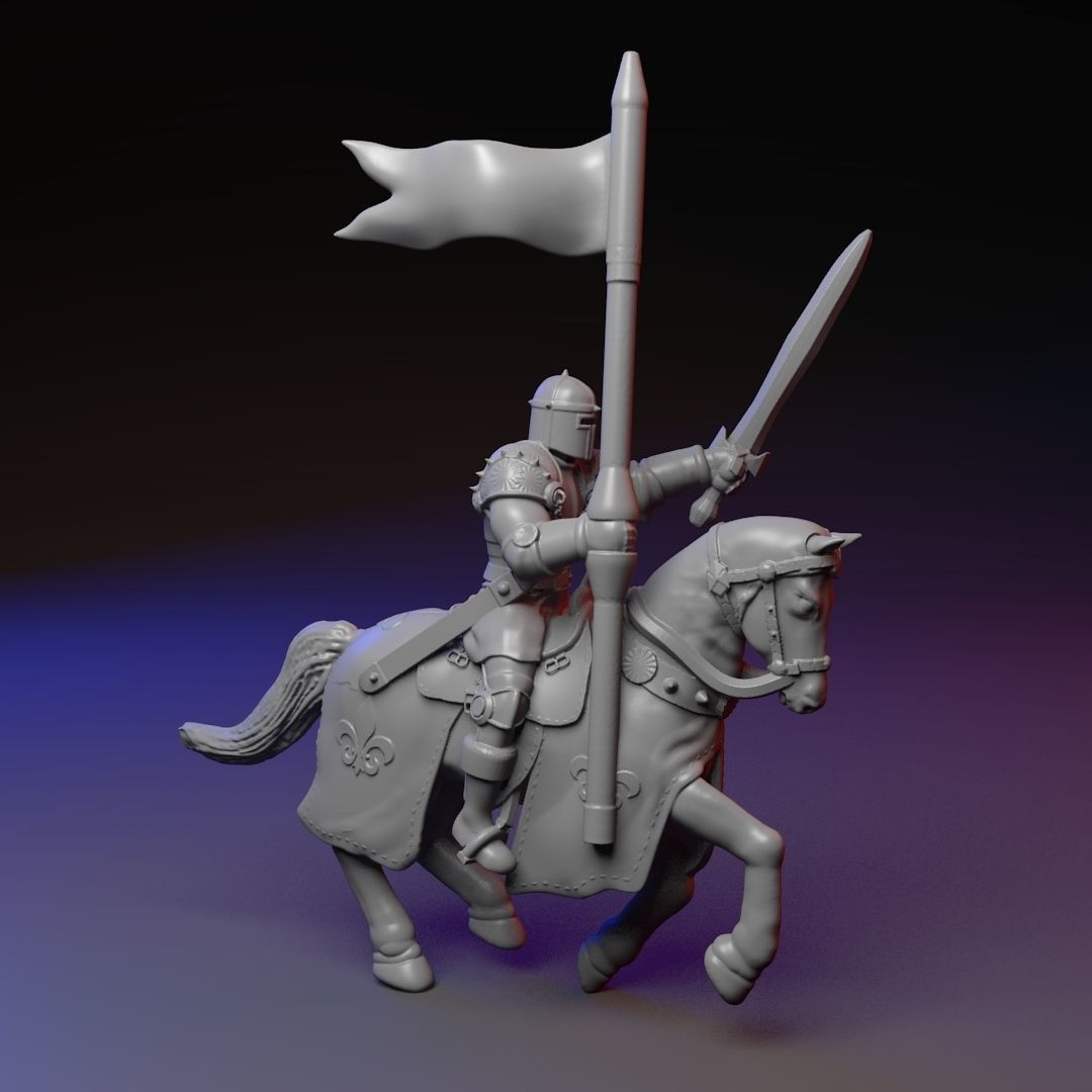 Mounted knight on a horse