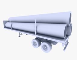 truck trailer 2 3d asset VR / AR ready