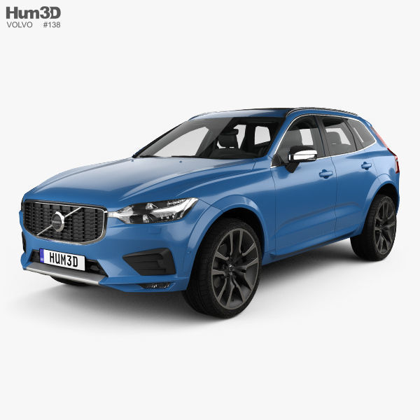 2017 Volvo Xc60 T6 R Design >> Volvo Xc60 T6 R Design With Hq Interior 2017 3d Model