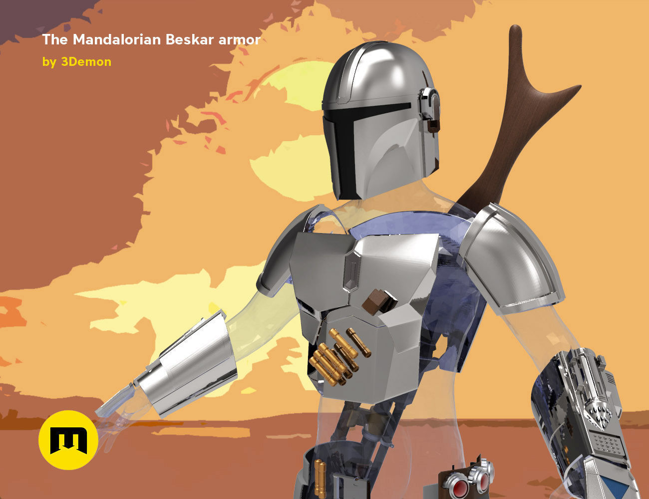 The Mandalorian - full armor and weapons