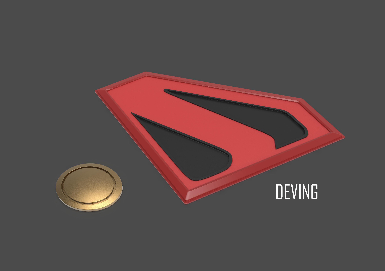 KINGDOM COME SUPERMAN EMBLEM AND BELT BUCKLE